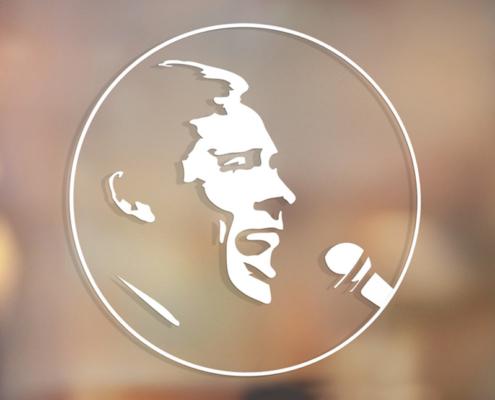Logo Fondation Brel sur la vitrine