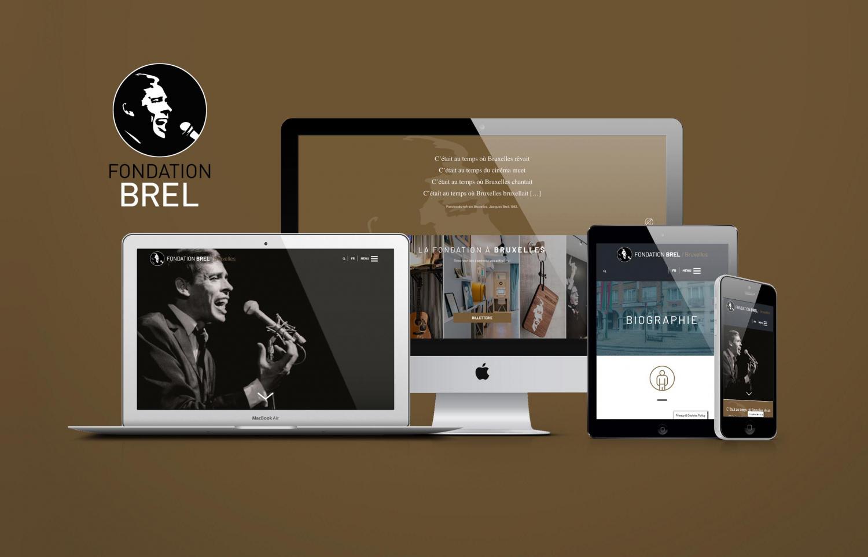 Website Fondation Jacques Brel / Responsive