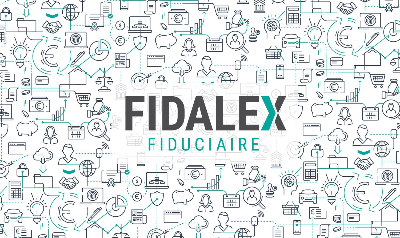 Fidalex logo et papier-peint